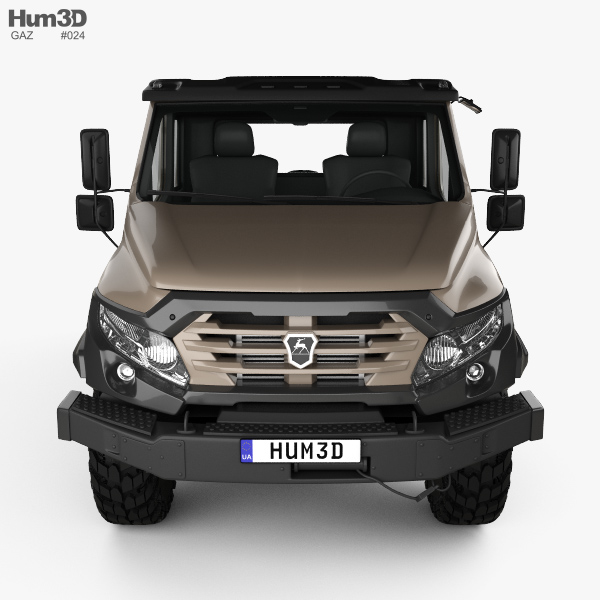 GAZ Vepr NEXT Double Cab Pickup Truck 2017 3D model - Hum3D