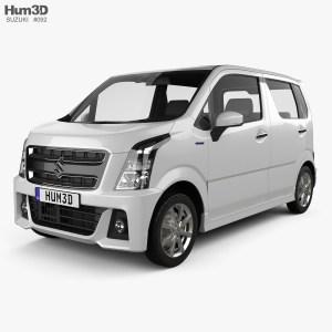 Suzuki Wagon R Stingray Hybrid 2018 3D model  Vehicles on