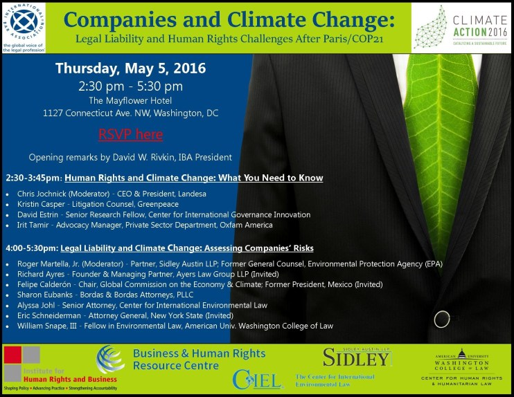 Companies and Climate Change Flyer