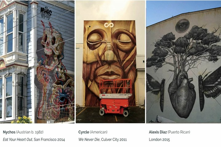 Анатомия человека в искусстве стрит-арта