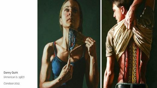 Художник Дэнни Куирк рисует анатомию людей.