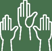 raised hands 2021