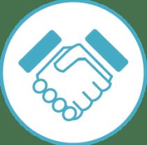 White/Blue Handshake