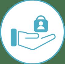 White/Blue Hand Lock