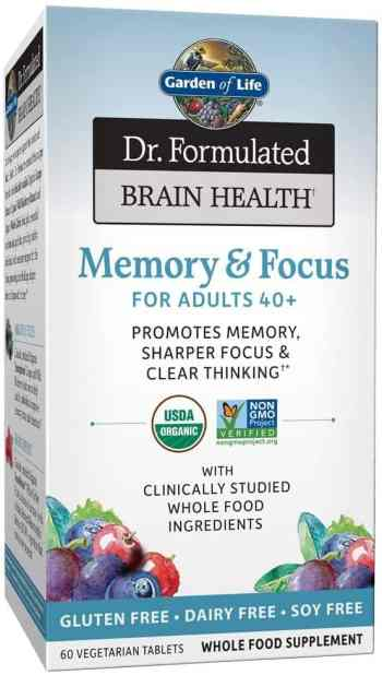 Garden of Life Dr. Formulated Organic Brain Health Memory