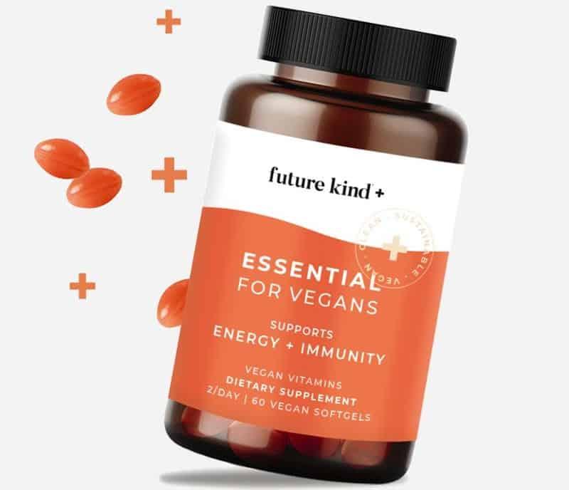 Future Kind + Vegan Multivitamin (B12 + Omega 3 + D3)