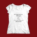 Pour T-shirt Crocheteuse