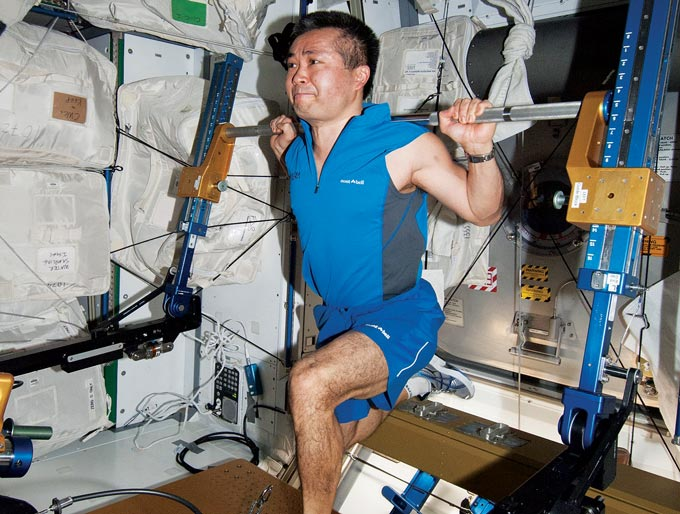 Koichi Wakata on the ISS