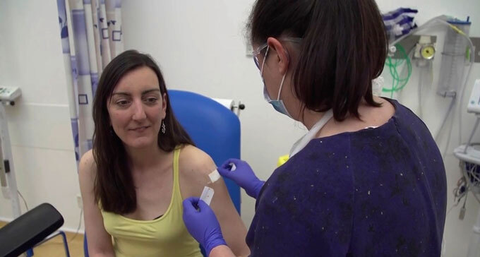 Elisa Granato at a vaccine trial