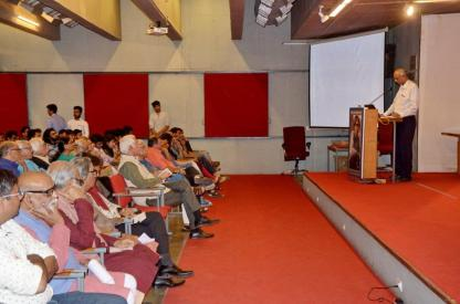 The audience the special function at H. T. Parekh Convention Centre, Ahmedabad Management Association, Ahmedabad.