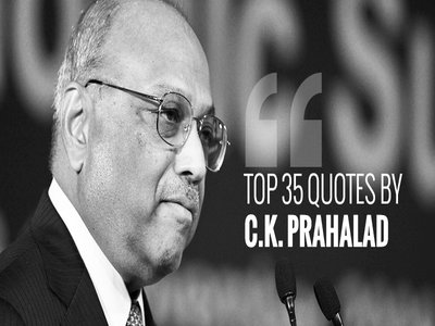 Photo of 'You cannot lead unless you are future-oriented' – 35 quotes from business guru C.K. Prahalad