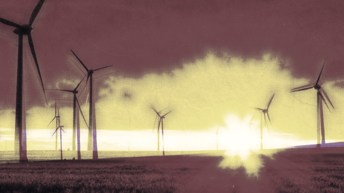 """Wind farms. // THE NON-PROBLEM OF MAN-MADE """"THERMAGEDDON"""""""