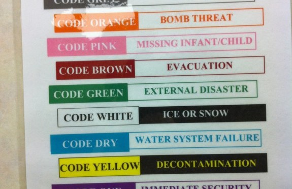 """Code Chartreuse – """"Too many codes"""""""