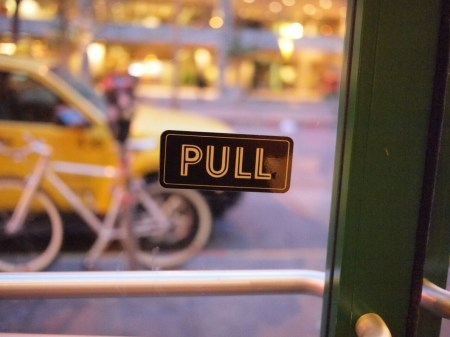 Pull the push door