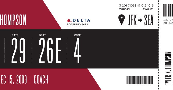 Redesigning the airline boarding pass