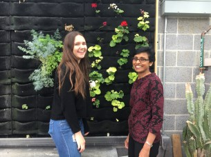 Second-place winner Sophia Spiegel (left) and her teacher Judith Pinto (right) at Bergen County Academies. (Courtesy Ms. Pinto).