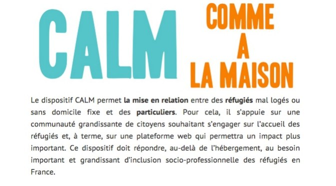 screenshot de l'association SINGA et de son programme Comme A La Maison (CALM)