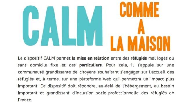screenshot de l'association SINGA et de son programme Comme A La Maison (CALM)