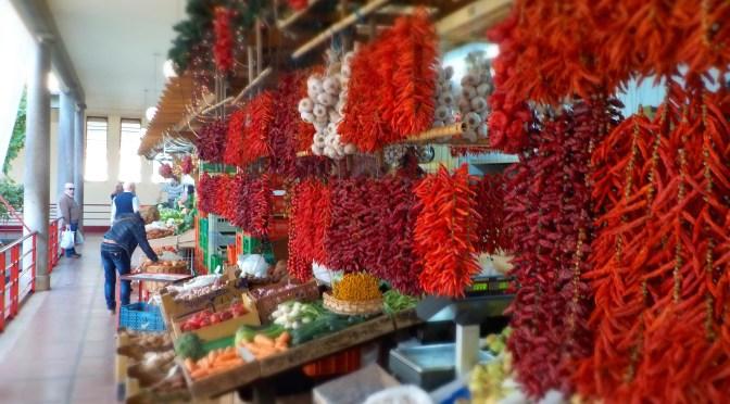 photo étalage marché de Funchal