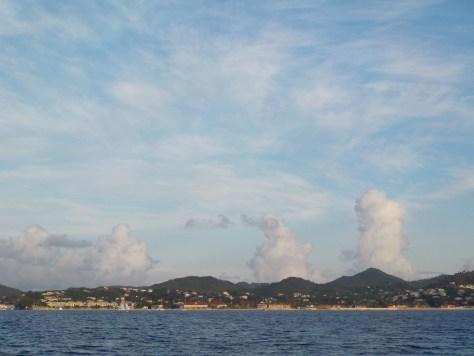 Nuages ascendant à Rodney Bay
