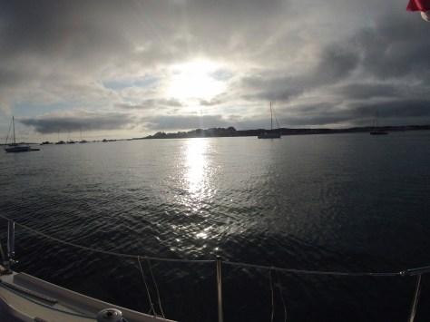 Couché de soleil aux Îles de Glénan !