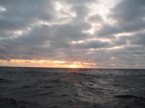 Couché de soleil dans le Golfe de Gascogne !