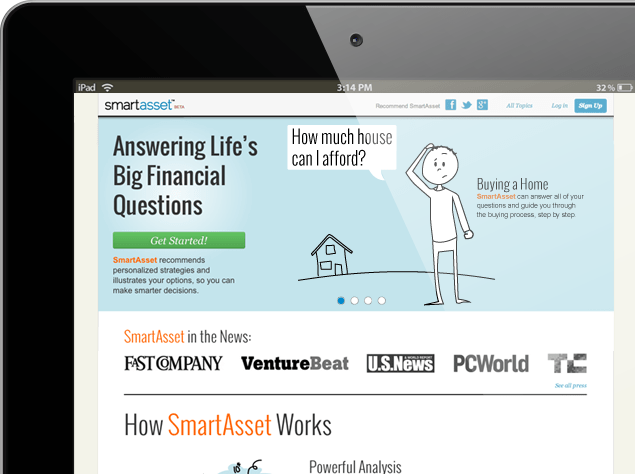 Smartasset Homepage