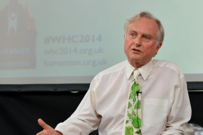 Richard Dawkins snakker for den humanistiske verdenskongress 2014 i Oxford. Foto: Sven Klinge for BHA.