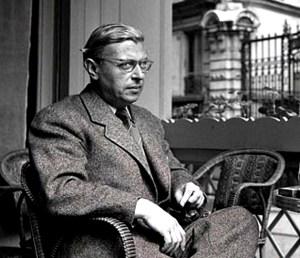 Sartre argumenterte mot tankene om et guddommelig forsyn og materiell determinisme, og for fri vilje. Vi er dømt til å være frie, konstaterte han. Foto: Wikimedia Commons.