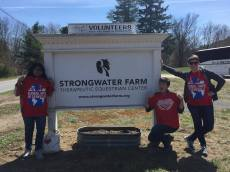 Volunteering at Strongwater Farm.