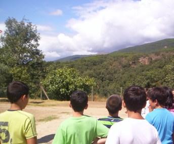 Observando Sierra de Gredos desde La Colonia