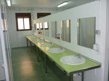 Baños con duchas individuales