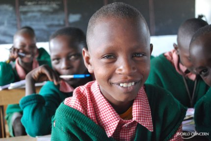 Humanitarian organization World Concern provides tuition for children in Kenya.
