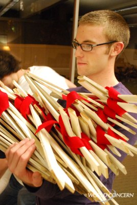 The AIDS crosses will be staked outside on the SPU campus on Dec. 1, World AIDS Day.