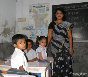 A teacher in Bangladesh.