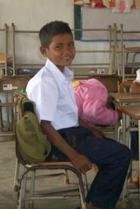Pandey in school.
