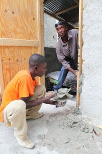 Houses being repaired