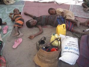 kids sleeping in Somalia