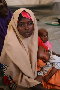 Habon Farah with her 9-month-old twins