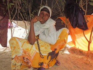 An IDP in Dhobley, Somalia