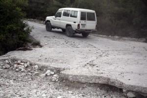 Rural road in Haiti