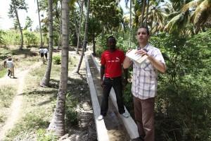 Irrigation canal in rural Haiti.
