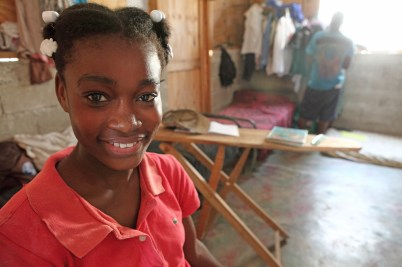 Inside a T-shelter in Port-au-Prince, Haiti