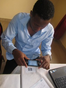 World Concern staff uses mobile technology  in the Horn of Africa