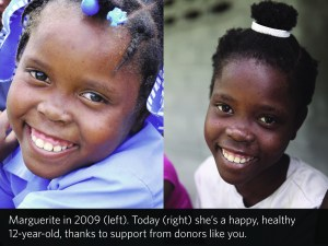 Marguerite in 2009 and in 2012