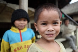 A small boy in Dak Euy, Laos