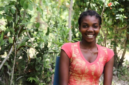 After finishing high school, Manoucha hopes to become a nurse and help people in her rural village in Haiti.