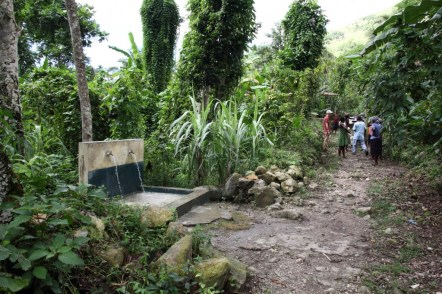 This fountain provides access to water to those in Figue and other nearby communities.