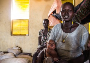 Mary fled violence in her home town in South Sudan. Three days after arriving in a camp, she gave birth to her son Amel.