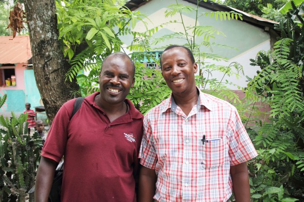 Bernard HTK Program Supervisor (L) & Duclona(R)_Gilgeau Haiti_6-13